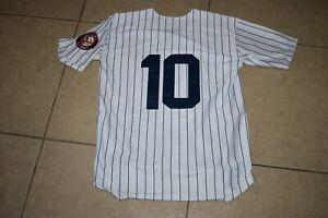 New!! Phil Rizzuto New York Yankees White Pinstripe Baseball Jersey Men's XL