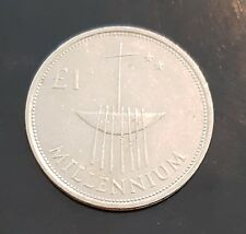 Irish Ireland 1 Pound Millennium Coin 2000