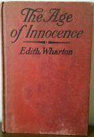 The Age Of Innocence, Edith Warton, 1920, 1st Edition,  2nd Printing, Appleton