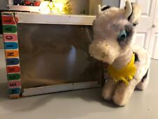 Vintage Alps Japan Wind Up Bossie The Calf Works! With Box 1950's Rare!