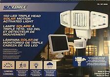NEW Sunforce 82153 150LED Triple Head Solar Motion Light 1000 Lumen Output O/B
