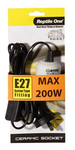 Reptile One Heat Lamp Ceramic socket 200w E27
