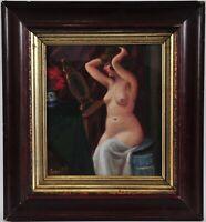 Czene Béla (1911-1999) Nude portrait of a lady doing her makeup