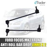 Ford Focus MK2 MK3 Front Stabiliser Anti Roll Bar Drop Link x2 Links Pair 04-12