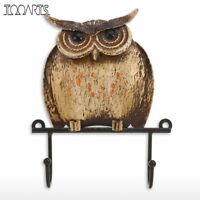 Owl Shaped Wall Hook Rustic Cast Iron Coat Hat Key Holder Wall Decorative Hanger