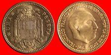 1 PESETA FRANCO 1953-62 ESPAÑA SC DE CARTUCHO