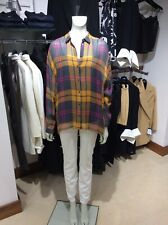 "Hugo Boss oversized-fit Blouse checked Silk Crepe 50392236 UK 10 ""Last one"""