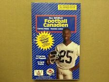 1991 ALL WORLD CFL CANADIEN FOOTBALL Factory Sealed Box
