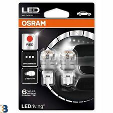 Osram Premium LED W16W 921 (T16) 9213R-02B 12V 2W Bombillas vuelta Rojo Duobox