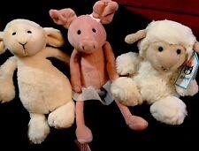 """Jellycat little Baby Bashful Lamb Sheep Pig Cream Plush Stuffed Beanie Mini 5"""""""
