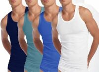 3 PACK Men's Sleeveless Vests 100% Cotton Underwear Tee Training Gym Interlock T