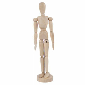 Wooden Manikin Jointed Doll Model Painting Artist Drawing Sketch ManneD Ta