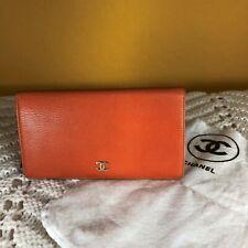 Chanel Wallet Purse Long Wallet COCO Orange Woman Authentic