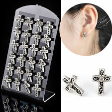 Wholesale Lots Antique Crystal Cross Ear Stud Earrings With Display 12 pairs