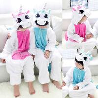 Pyjama Licorne Cosplay Animal Pour Fille Garçon Enfant Flanelle Déguisement