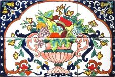 DECORATIVE CERAMIC TILES:MOSAIC PANEL HAND PAINTED HOME KITCHEN WALL MURAL TILE