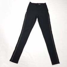 Kensie womens high waist leggings size XS black silver metal embellishment