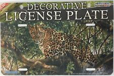 Leopard - Aluminium Automobile License Plate - New