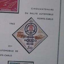 Monaco Stamps 1961 50th Anniv Monte Carlo Rally MH