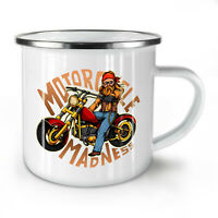 Motorcycle Madness NEW Enamel Tea Mug 10 oz | Wellcoda