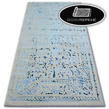 """Acrylic like Wool Rugs Grey Blue """" Manyas """" Classic Very Thick and Tight"""