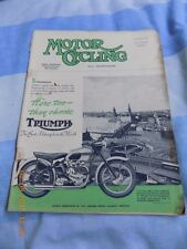 Motor Cycling(oct1952)FLM/Panther/Burman Box/Bowns/Terrot/Norman/T100 Cover