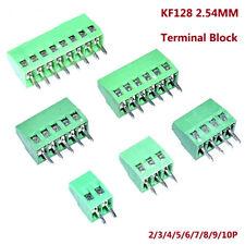 2/3/4/5/6/7/8/9/10P KF128 2.54MM Pitch Terminal Block Screw PCB Connectors Mount