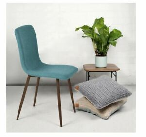New Green Wood Mid-Century Modern Upholstered Dining Side Chairs Set of 4 Cheap