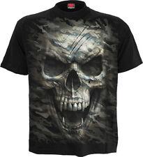 Spiral Direct CAMO-CRÁNEO Camiseta/militar/Rock/Motero/militar/Camuflaje/Gótico/