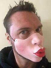 Divertente Mezzo Viso Maschera KISS JAGGER BIG Labbra AEROSMITH Costume Addio al Celibato