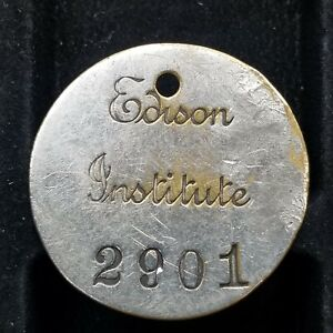 Vintage Edison Institute Employee ID Badge Rare! Henry Ford Museum