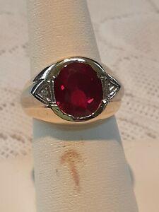 Mens  ruby ring