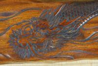 Dragon sculpture Japanese architecture lintel decoration 1950 wood carving Japan