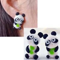 1 coppia orecchini 3D Panda orecchino lobo pendente accessorio bigiotteria donna