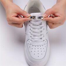 Cordones De Los Zapatos Blanco Elástico Magnético De Niños Adultos perezoso sin atar Entrenador Zapatillas Cordones UK