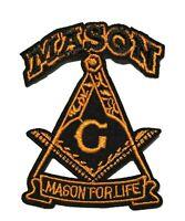 #5173 MASONIC PAST MASTER MASTERS MASON BIKER IRON ON PATCH-Small