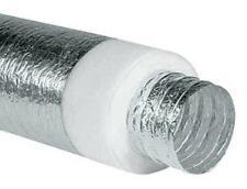 Tubo Flessibile Alluminio Isolato Afonico Aria Calda Fredda VMC 10 metri DN 305