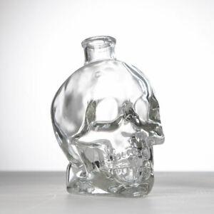 GOTHIC SKULL GLASS HEAD DECANTER DRINKING BOTTLES WHISKY DRINKING PERFUME
