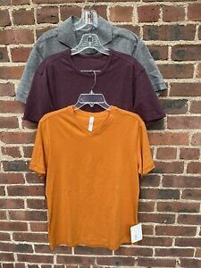 Lululemon Men Lot Of 3: 2 T Shirts & Polo Top Size M