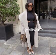 ZARA NEW WOMAN LONG BELTED COAT BROWN /TAUPE XS-XL 2027/431