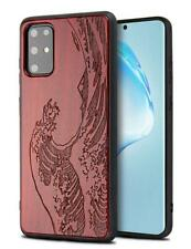 YFWOOD Case for Samsung Galaxy S20 Plus,Wood Compatible with 6.7 wave