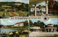 BAD MEINBERG Teutoburger Wald color Mehrbild-AK mit 4 Ansichten, gebraucht 1967