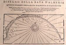 ALMERIA, bahía. Coronelli, mapa original, 1697.