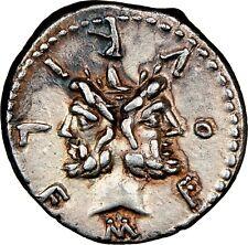 M. Furius L.f. Philus NGC XF 5/5 4/5 120 BC. JANUS Denarius  Roman Republic 124