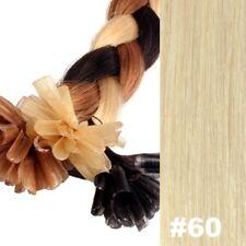 Premium Europäische Hair Extensions-Keratin Bonding #60 PLATINBLOND 50-55cm
