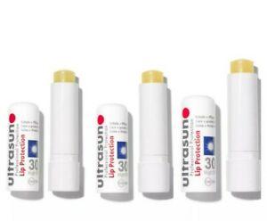 3x Ultrasun Professional Lip Balm Lip Protection & Care SPF30 4.8g Sunblock Lips