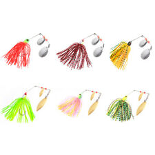 6pcs Fishing Spinner baits Jig Head Silicone Fishing Lure Pike Bass Tackle