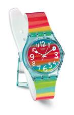 SWATCH color The Sky Reloj GS124 Análogo plástico azul,amarillo,verde,naranja,