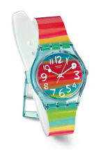 Swatch Color The Sky Uhr GS124 Analog  Kunststoff Blau,Gelb,Grün,Orange,Rot