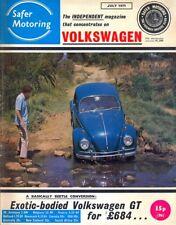 Safer Volkswagen VW Motoring magazine July 1971